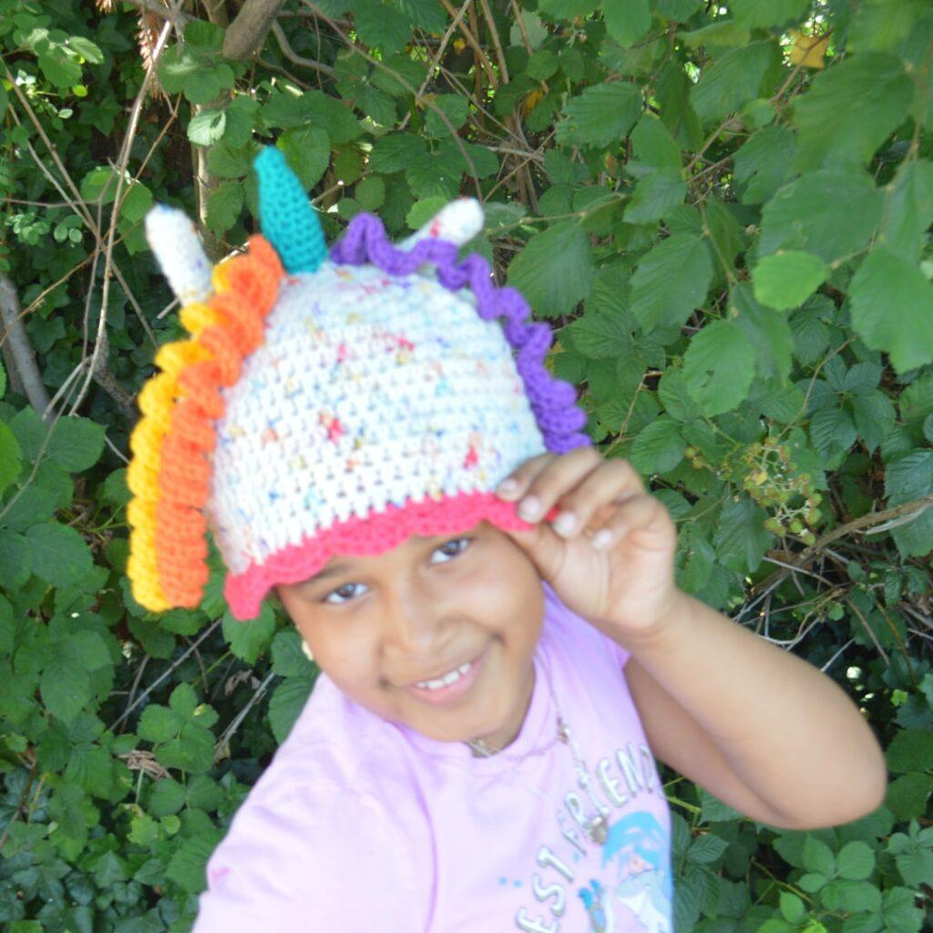 The Unicorn Crochet Hat by Creative Snugglies Designs