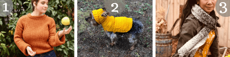 Other Crochet Patterns I love:  The Cinnamon Spiced Ribbed sweater, Jack's Small Dog Hoodie, the Stepping Stones Unisex Scarf