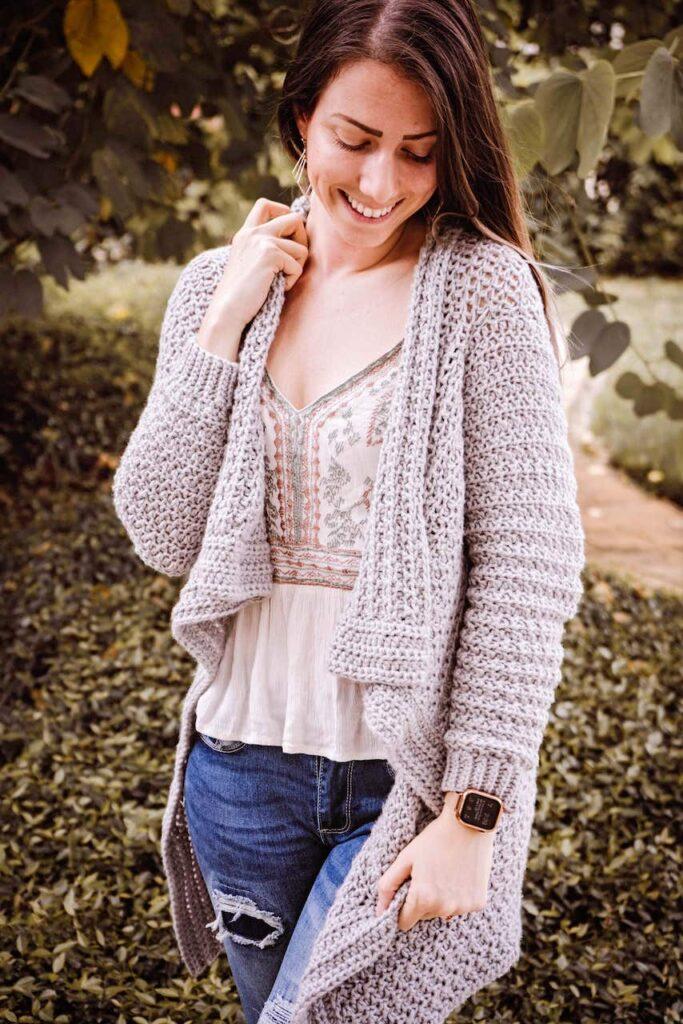 The Snuggle Puff Crochet Cardigan by Briana K. Desings