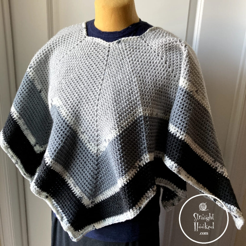 The Perfect Crochet Poncho by Straight Hooked