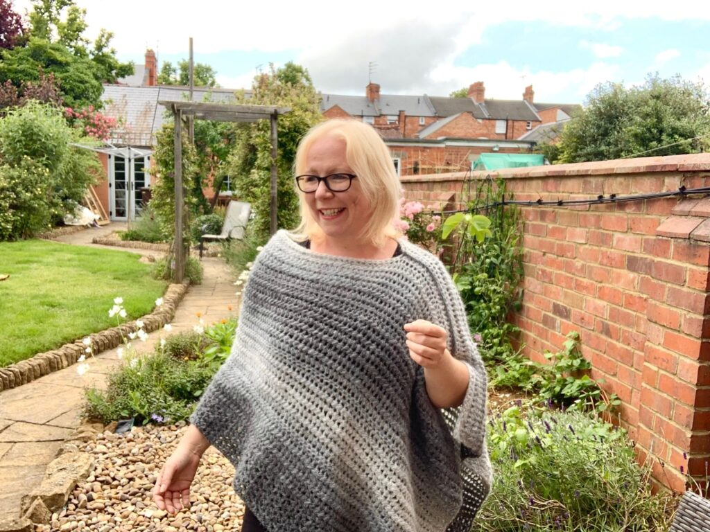 Take It On The Hip Crochet Poncho by Cosie Rosy UK