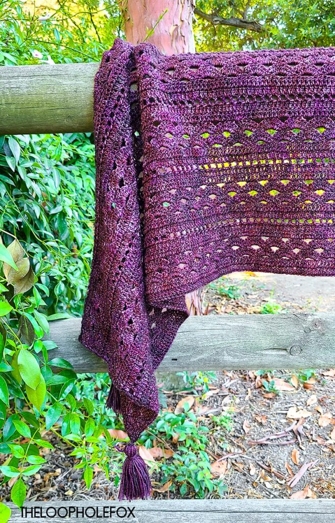 The Heather Crochet Shawl by The Loophole Fox