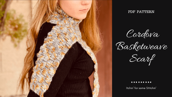 Crochet Basketweave Scarf
