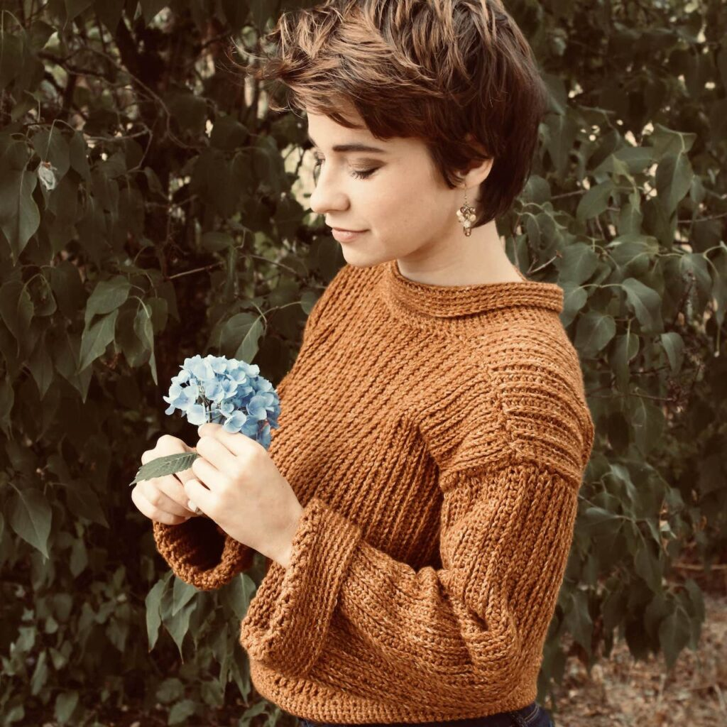 Ribbed Crochet Sweater by Itchin' for some Stitchin'